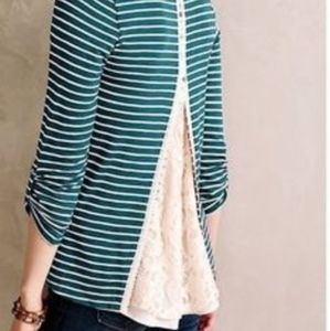 Anthropologie Meadow Rue Cassia Striped Top